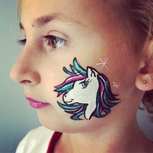 unicorn schmink op wang